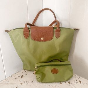 Longchamp tote and wallet